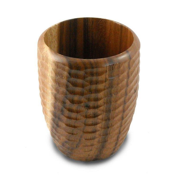 Acacia Wood Natural Utensil Vase (Thailand)