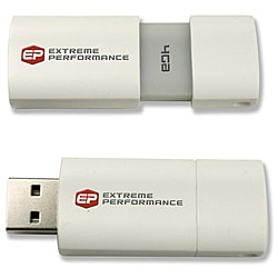 EP 4GB USB White Flash Drive