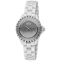 Akribos XXIV Women's Dazzling Ceramic Swiss Quartz Watch