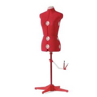 Singer Red DF150 Foam/Fabric Medium Lightweight Custom-size Dress Form
