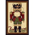Nutcracker Beige Novelty Rug (3' x 5')