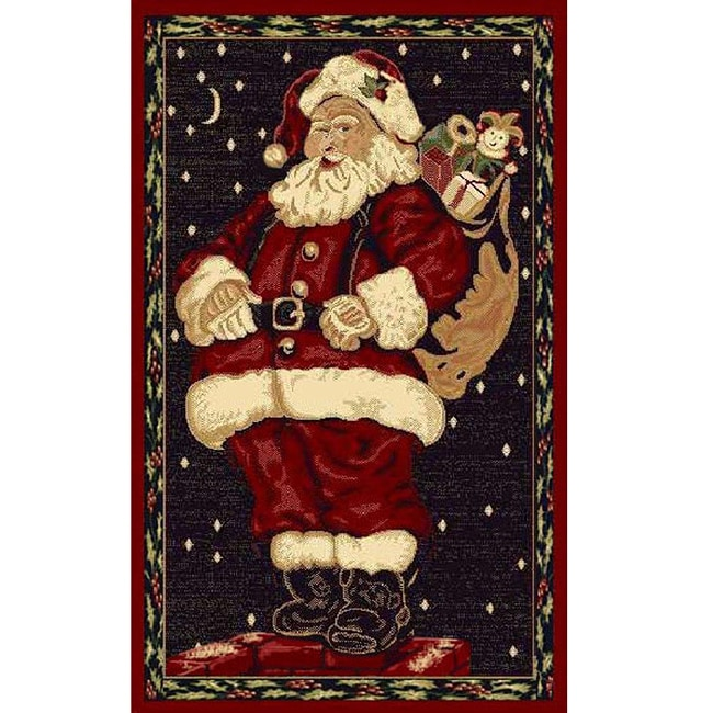 Santa Claus Holiday Area Rug (3' x 5')
