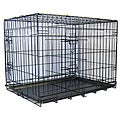 GoPetClub 48-in Divider and 2-door Folding Dog Crate