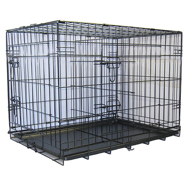 2 door dog crate with divider 3