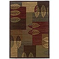Brown Geometric Polypropylene Area Rug (8'2