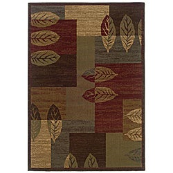 "Brown Geometric Polypropylene Area Rug (8'2"" x 10')"