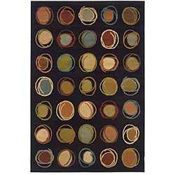 Indoor Brown/ Multi Abstract Rug (5' x 7'6)