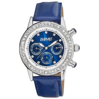 August Steiner Women's Multifunction Dazzling Strap Watch