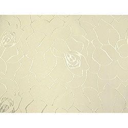 Floral Jacquard 61x95-inch Rectangular Pearl Tablecloth