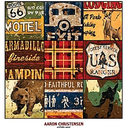 Aaron Christensen 'American Adventure' Gallery-wrapped Canvas Art