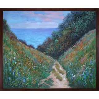 Monet 'Chemin De La Cavee Pourville' Canvas Art