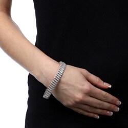 Finesque Sterling Silver 2ct TDW Diamond 'S' Link Bracelet (I-J, I2-I3)
