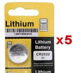 CR2032 Lithium Coin Battery (Pack of 5)