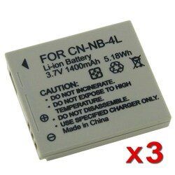 INSTEN Li-ion Battery for Canon NB-4L/ PowerShot SD630 (Pack of 3)