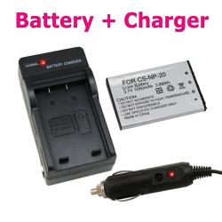 Li-ion Battery/ Compact Battery Charger Set for Casio NP-20