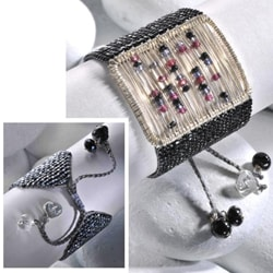Sterling Silver Sliding Stones Beaded Bracelet (Colombia)