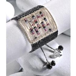 Sterling Silver Sliding Stones Beaded Bracelet (Colombia)