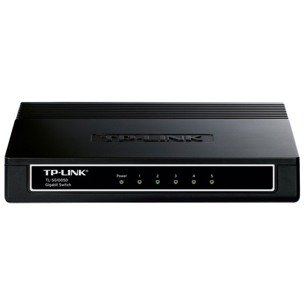 TP-LINK TL-SG1005D 10/100/1000Mbps 5-Port Gigabit Desktop Switch, 10G