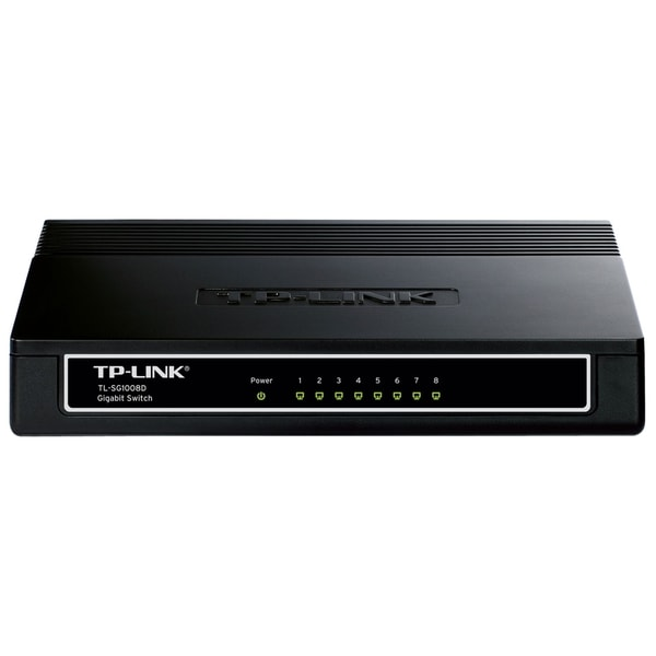 TP-LINK TL-SG1008D 10/100/1000Mbps 8-Port Gigabit Desktop Switch, 10G