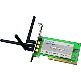 TP-LINK TL-WN951N Wireless N300 Advanced PCI Adapter, 2.4GHz 300Mbps,