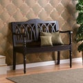 Loma Antique Black Finish Wood Bench
