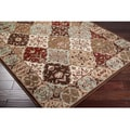 Loomed Free-form Chocolate Geometric Rug (5'3 x 7'6)