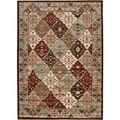 Loomed Free-form Chocolate Geometric Rug (7'9 x 11'2)