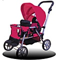 Doll Twin Stroller for 18