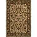 Hand-knotted Neoteric Tan Wool Rug (2' x 3')