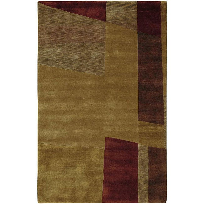 Surya Hand-knotted Brown Contemporary Neoteric Wool Abstract Rug (2' x 3') at Sears.com