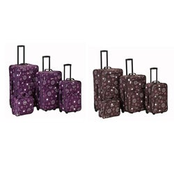 Rockland Designer Pearl 4-piece Luggage Set
