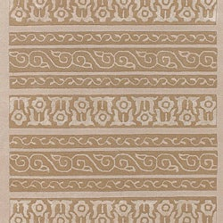 Bob Mackie Home Hand-tufted Ivory Geometric Wool/Viscose Rug (2' x 3')