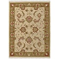 Hand-woven Beige Southwestern Migrant New Zealand Wool Area Rug (9' x 13')