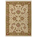 Handwoven Beige Southwestern Migrant New Zealand Wool Area Rug (9' x 13')