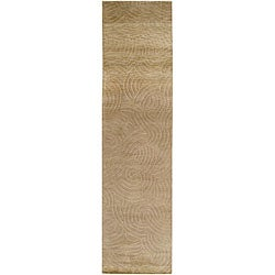 Julie Cohn Hand-knotted Resonate Beige Abstract Design Wool Rug (2 '6 x 10')