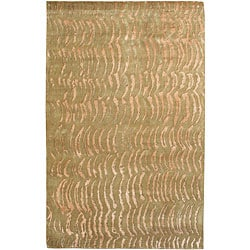 Julie Cohn Hand-knotted Resonate Beige Abstract Design Wool Rug (2 ' x 3')