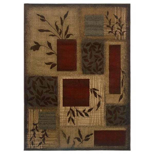 Indoor Green Abstract Area Rug (8'2 x 10')
