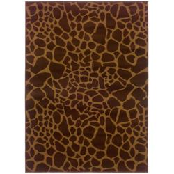 Indoor Brown Animal-print Rug (3'2 x 5'7)