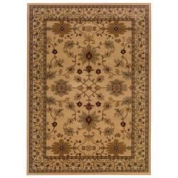 Indoor Beige Oriental Area Rug (8'2 x 10')