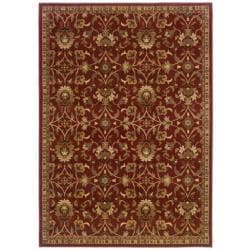 Red Floral Rug (3'2 x 5'7)