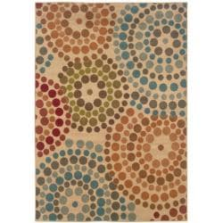Beige Abstract Rug (5' x 7'6)