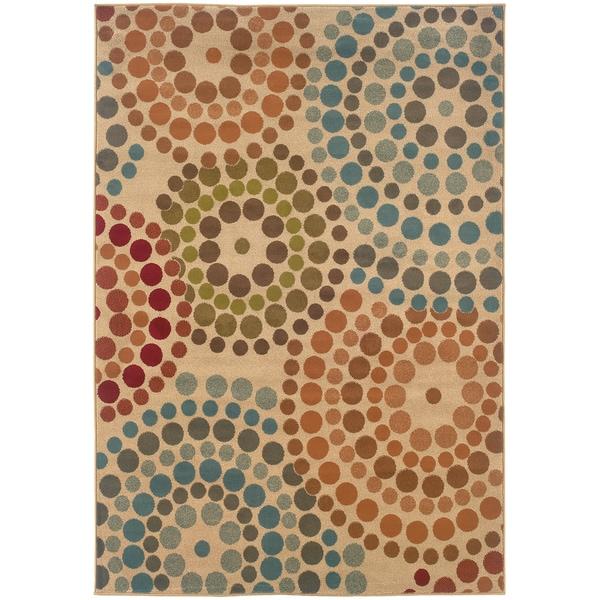 Beige Abstract Rug (5' x 7'6)