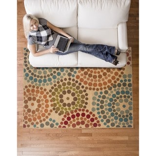 Biege Abstract Rug (7'10 x 10')
