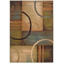 Indoor Beige Abstract Area Rug (5' x 7'6)