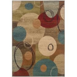 "Beige Abstract Area Rug (5' x 7'6"")"