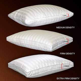 Three-density 500 Thread Count Damask Stripe Outer Down Pillow