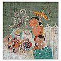 Handcrafted Cotton 'Northern Life' Batik Wall Hanging (Thailand)