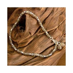 Sterling Silver 'Mystical Inspiration' Labradorite Anklet (India)