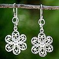 Sterling Silver 'Lady Daisy' Flower Earrings (Thailand)