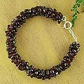 Garnet 'Love's Fortunes' Beaded Bracelet (India)